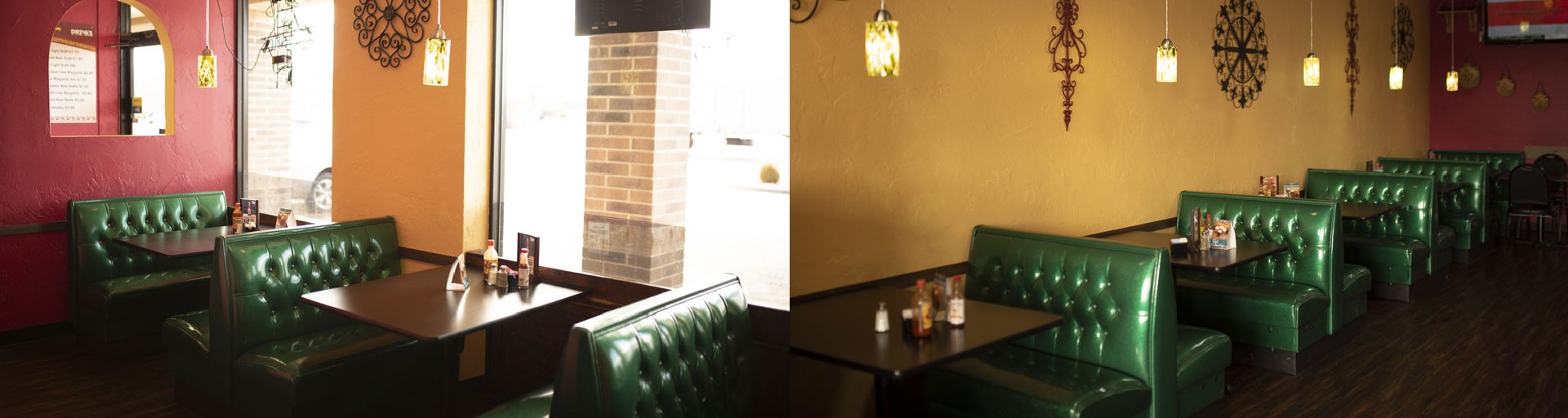 El Sombrero booths and tables
